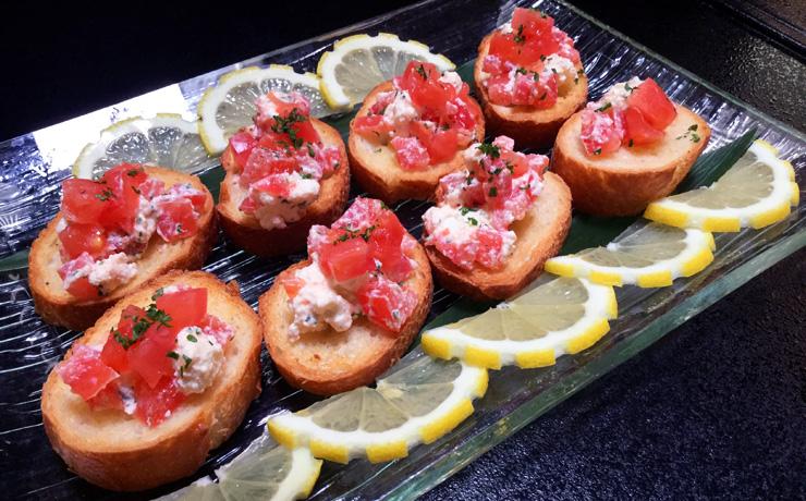 トマトとクリームチーズのカナッペ写真